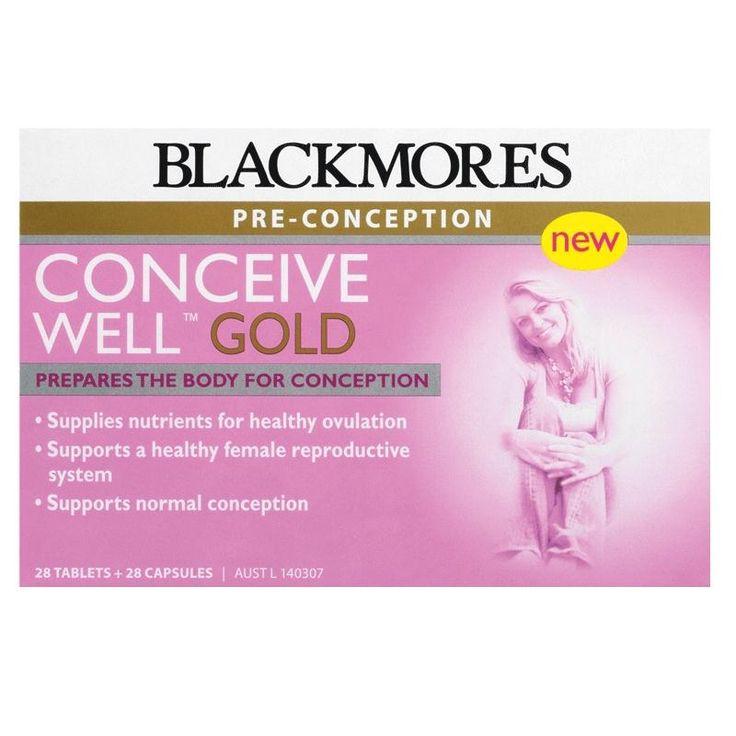 Blackmores Conceive Well Gold mempersiapkan tubuh dan rahim untuk kehamilan. Menyediakan nutrisi lengkap (folic acid, vitamin BCDE, zinc, mangan, dst) dalam 1 kapsul dan 1 tablet per hari. Per kotak untuk 28 hari. Harga Rp 400.000,- di luar ongkir TIKI/JNE. Ready Stock!