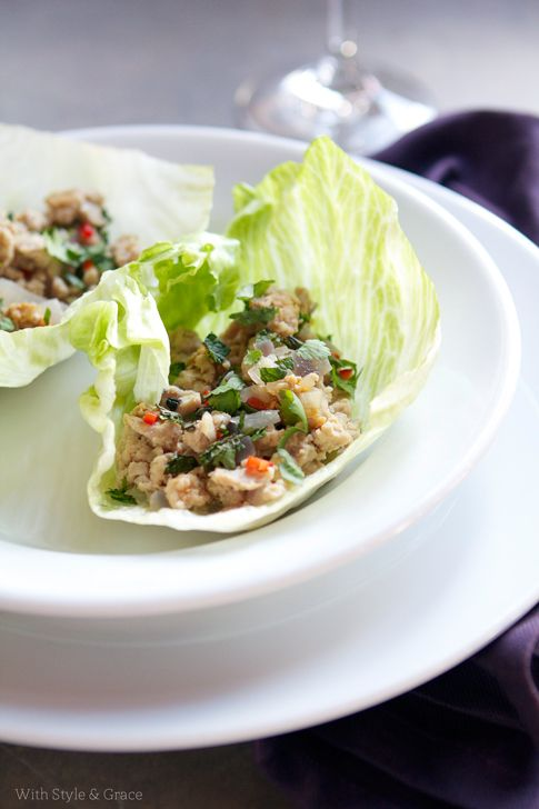 Chicken lettuce wraps. Perfect summer food. Light and full of flavor.