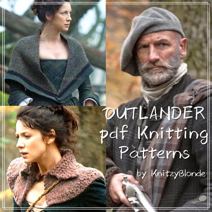 Knit your own #Outlander Tam, Shawl or capelette! http://etsy.me/29983J7