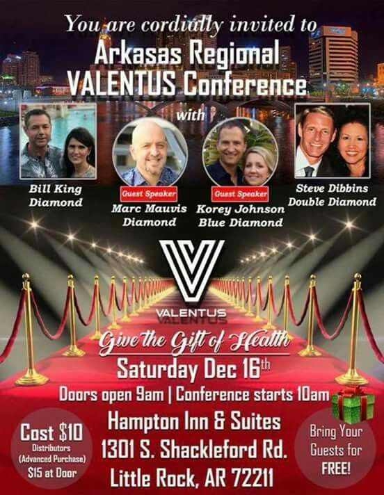 ☆☆☆ATTENTION LITTLE ROCK, AR☆☆☆  Are you wanting to be an IR? Here's your chance! Bring a guest for free!   BIG Valentus Event Coming to Little Rock Arkansas-Saturday!!!   register as an IR here: http://kjensifyme.valentustour.com