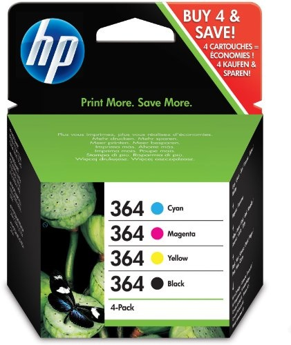 #Bürobedarf: HP Tintenpatrone Nr.364 Schwarz Cyan Magenta Gelb Multipack: Kaufen Neu: EUR 18,96 [Germany]