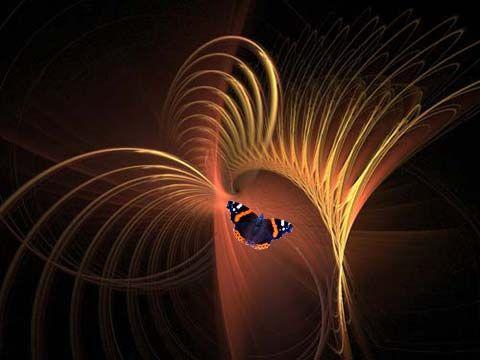 Blauer Schmetterling von H.Hesse