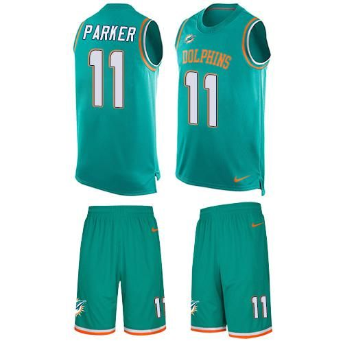 nike dolphins dan marino aqua green team color mens stitched nfl limited tank top suit jersey and broncos emmanuel sanders 10 jersey
