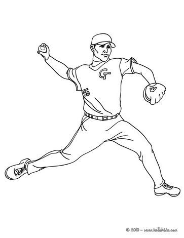 Baseball pitcher coloring page! looking for more sports