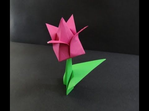 98 best origami flowers images on pinterest origami flowers paper origami tutorial on how to fold a paper tulip flower paper flower folding is an art that attracts kids this paper tulip is made of two parts the flower mightylinksfo