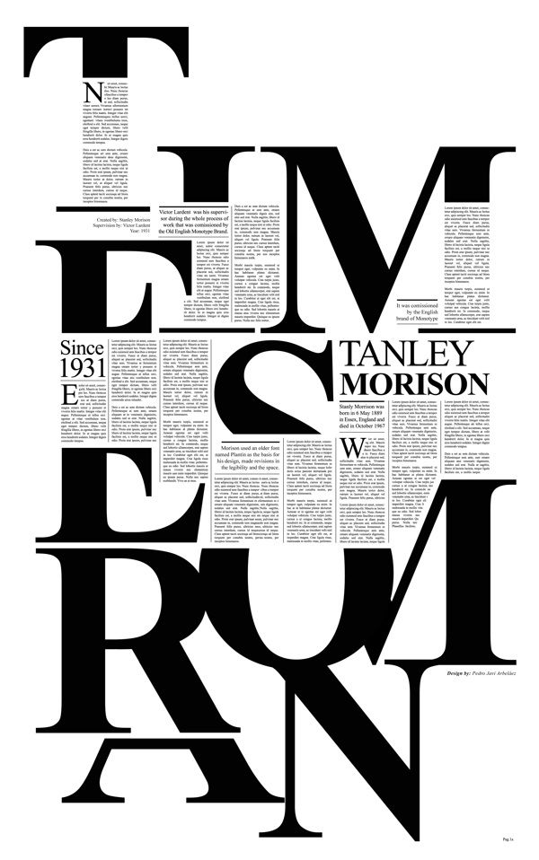 Times New Roman by Pedro Javier Arbelaez, via Behance