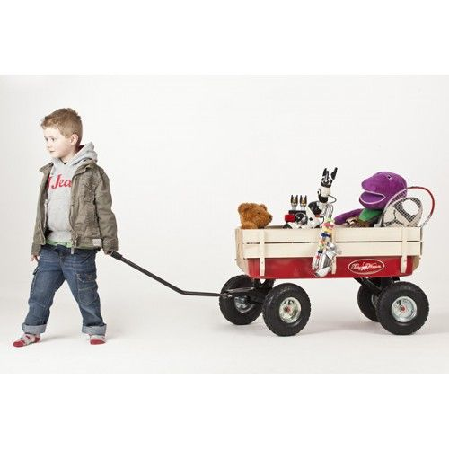 Toby All Terrain Pull Along Red Wagon / Cart / Trolley / Truck
