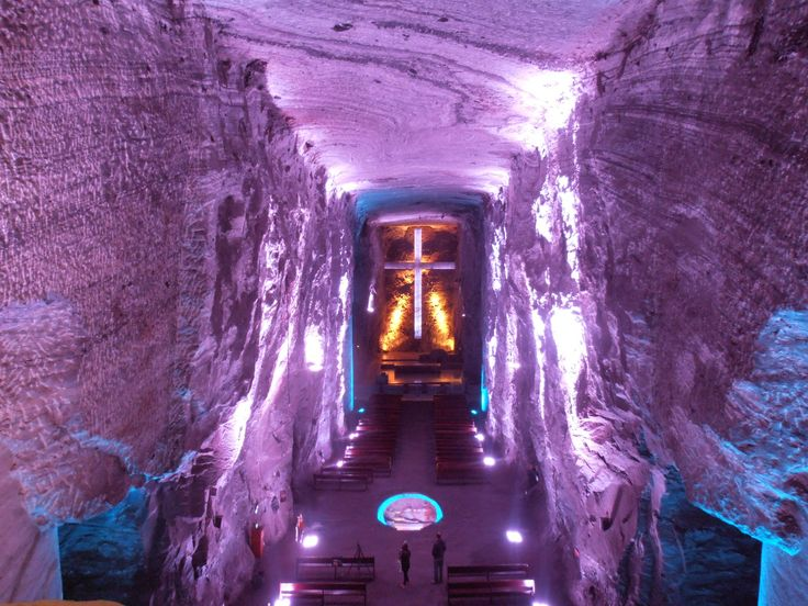 Salt cathedral of Zipaquirá   Bogotá Colombia.