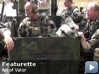 Act of Valor a movie made with real Navy Seals and with live rounds the action is intense.