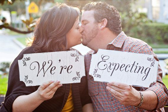 WERE EXPECTING baby announcement signs 12x6 Set of by familyattic, $31.95