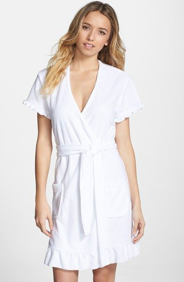 Free shipping and returns on Betsey Johnson 'Vintage' Ruffle Trim Terry Robe at Nordstrom.com. Sweet short sleeves and ruffled trim give a short terry robe a flirty, retro-inspired attitude for an indulgent after-bath layer.
