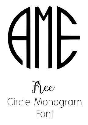 circle monogram font free download  many free monogram downloads