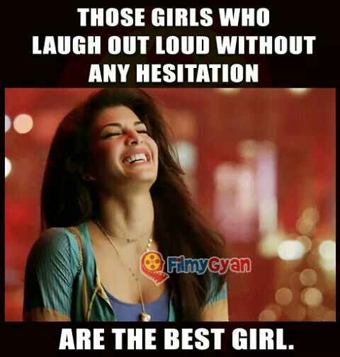 An innocent girl laughs at any moment !