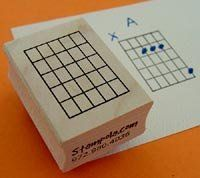 This is a clever little tool for teachers to quickly share chords fingerings. // Guitar Chord Stamp (Large) - 5 Fret by Stampola Rubber Stamps, http://www.amazon.com/dp/B000FZ1KF4/ref=cm_sw_r_pi_dp_O5MHrb0AQS38Q