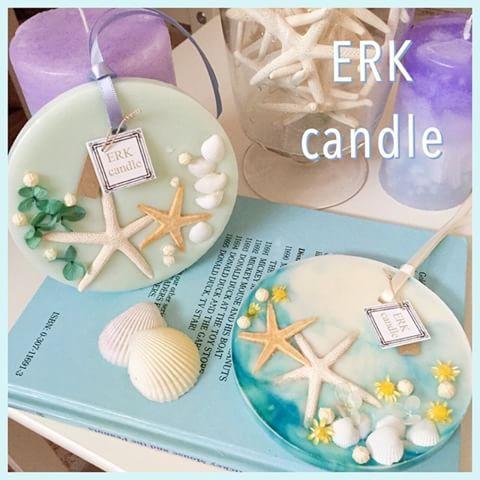今日はマリン系ワックスバーを(*^^*)♡ 貝はお花と違って重いからタイミングが難しい(>_<) 香りはジュニパーとまさかのストロベリー。笑 #キャンドル #candle #ワックスバー #ワックスサシェ #マリン #marine #海 #スターフィッシュ #shell #シェル #貝殻 #南国 #ソイ #aroma #アロマ #フレグランス #ERKcandle