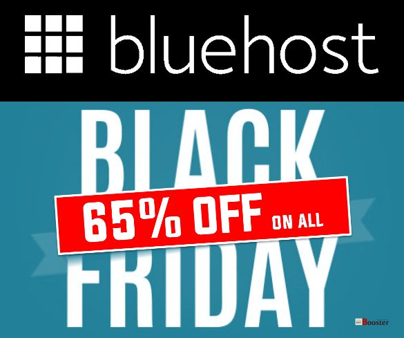 Bluehost BlackFriday Sale FLAT 65% OFF on all Hosting Plans
