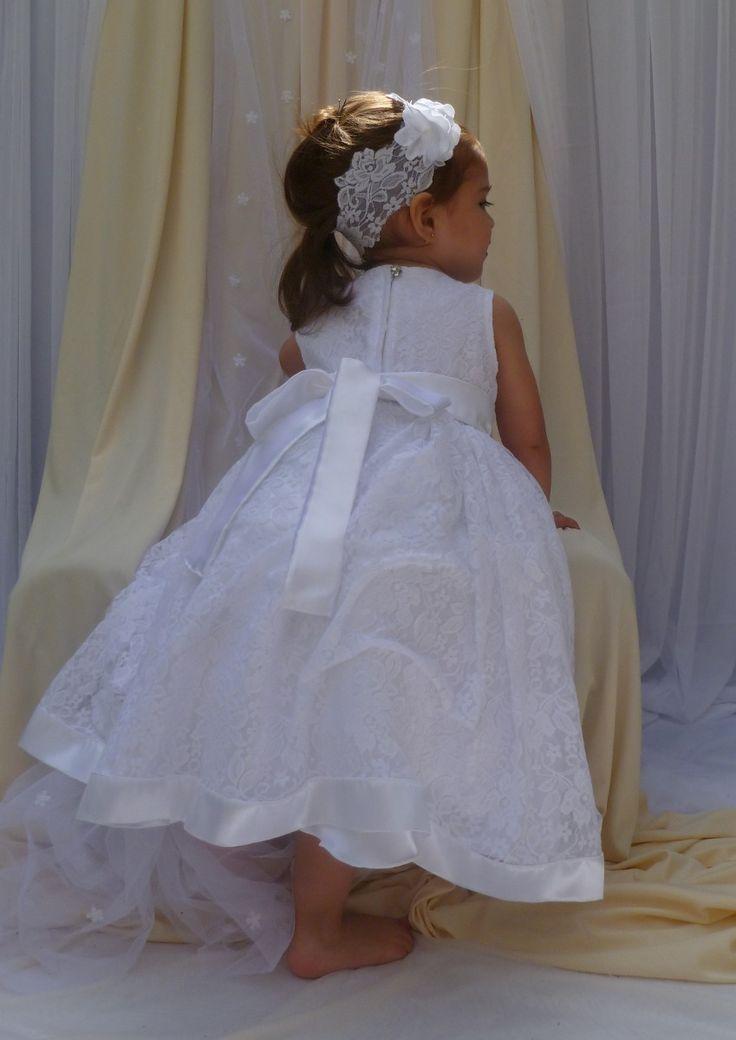 Vestido De Bautismo Cortejo Primer Añito Encaje Nena Beba - $ 860,00 en MercadoLibre