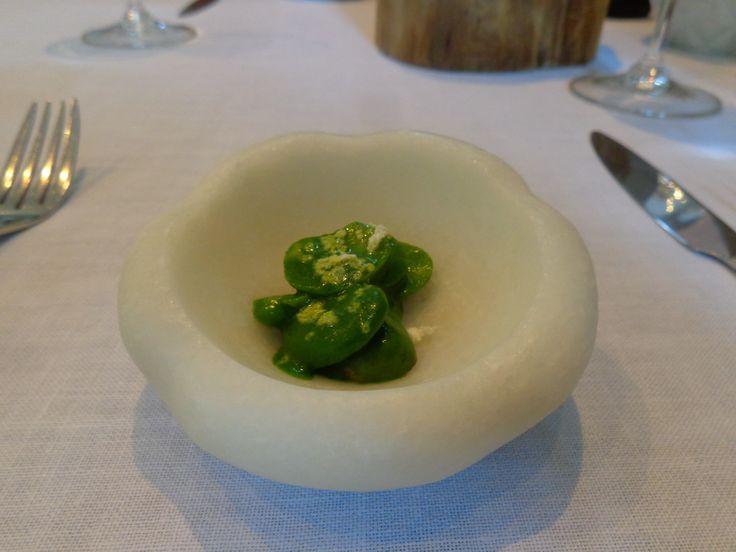 Rabbit kidney with broadbeans @ Restaurant Atelier Amaro
