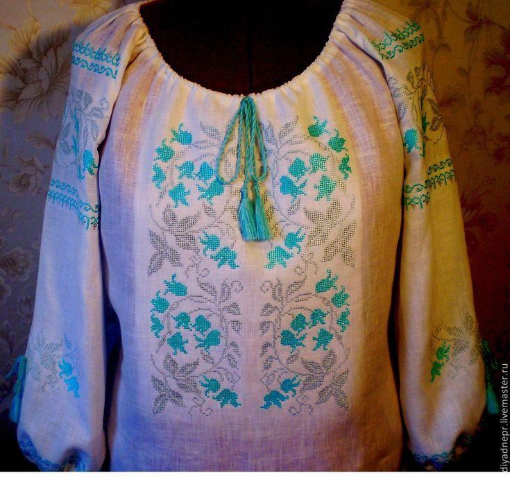 """вышитая блуза """"Колокольчики"""" – купить в интернет-магазине на Ярмарке Мастеров с доставкой"""