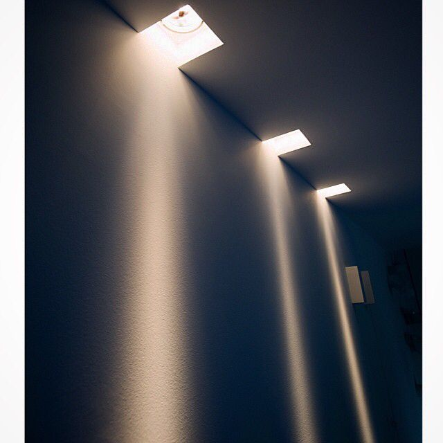 Invisible square spot lights from XAL with AR111 lamp at HALO showroom.
