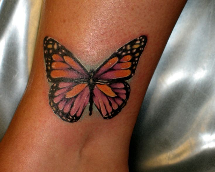 Butterfly Tattoos   Butterfly Ankle Tattoo For Girls - Tattoo Desings Trendy Tattoo Models ...