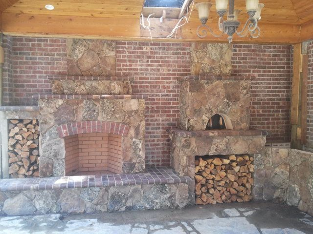 Outdoor Living, Outdoor Fireplace, Pizza Oven, Natural Stone, Brick, Outdoor  Kitchen