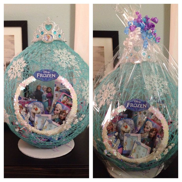 8 best crafts images on pinterest easter baskets easter and frozen easter basket i made for my daughters friends i used a 36 balloon negle Choice Image