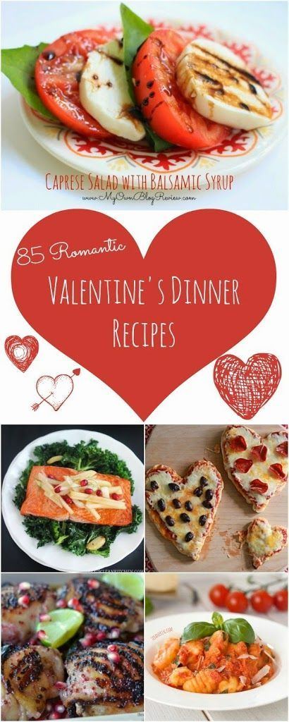 85 recipes for a romantic valentine 39 s day dinner at home for Romantic valentine recipes for two
