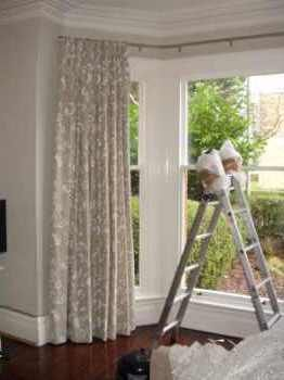 Curtains for bay windows google search baby for Window design bangladesh