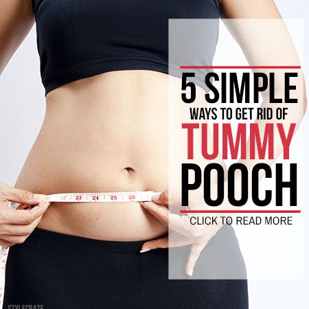 How To Get Rid Of Belly Pooch - 7 Best Ways   Healthy life ...