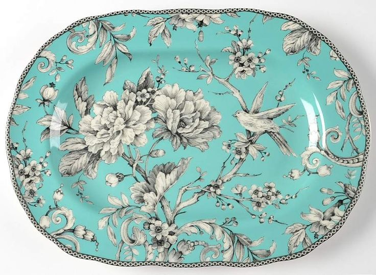 adelaide turquoise 222 fifth dinnerware set | 222 Fifth ADELAIDE TURQUOISE Oval Serving Platter 9831781