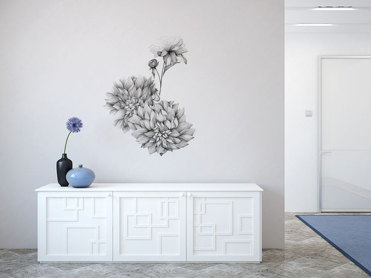 Take a look to the new Marina's Guiu vinyl design, Grey Dahlia, available now in The Wallery in different sizes, choose yours and transform your home!