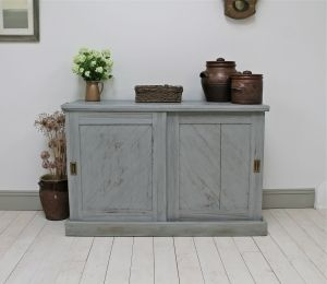 Rustic Painted Pine Cupboard - For Sale | Distressed But Not Forsaken