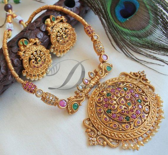 Polki,Temple Jewelry Kemp Necklace,South Indian Jewelry,Bridal Jewelry,Bollywood Jewelry,Statement Necklace