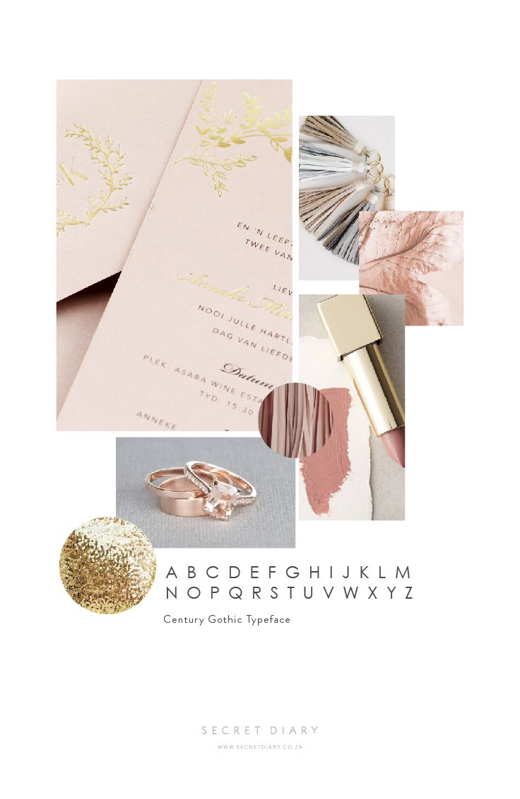 Monday Moodboard 3 - Blushing Bride | www.secretdiary.co.za | blush and gold wedding inspiration