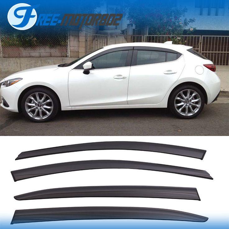 Cool Mazda 2017: For 2014-2016 Mazda 3 Sedan Hatchback Window Visor Rain Guard Check more at https://24go.cf/2017/mazda-2017-for-2014-2016-mazda-3-sedan-hatchback-window-visor-rain-guard/