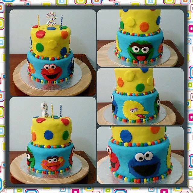The cake I made for my daughters and a friends sons joint 2nd bday party