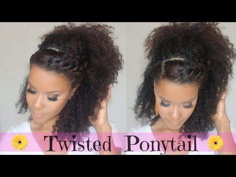 ▶ Double Twisted Ponytail Tutorial - YouTube