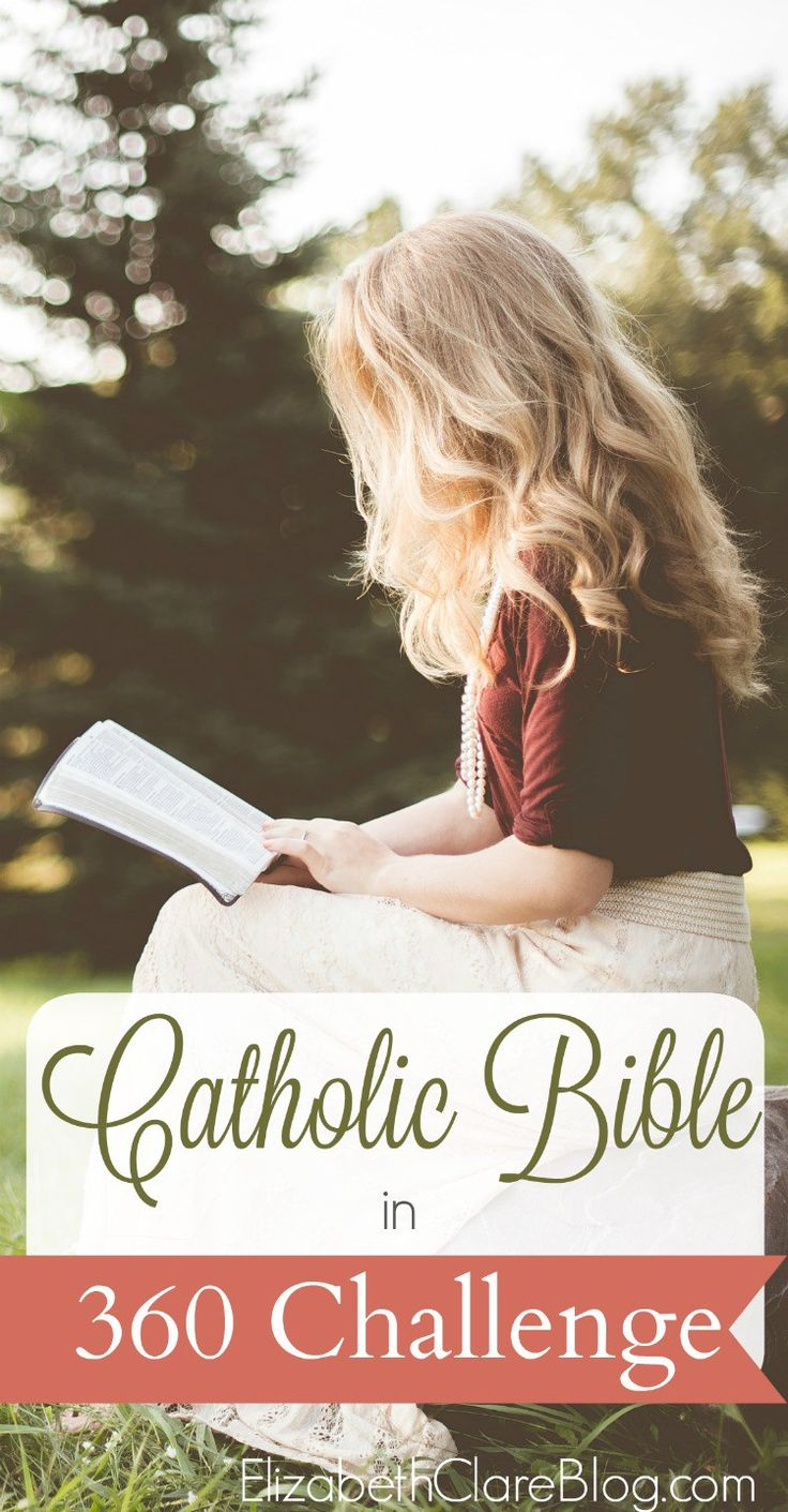 Take up the Catholic Bible in a Year Challenge with a free printable! Great for getting into scripture even as a busy mom with a great reading plan!
