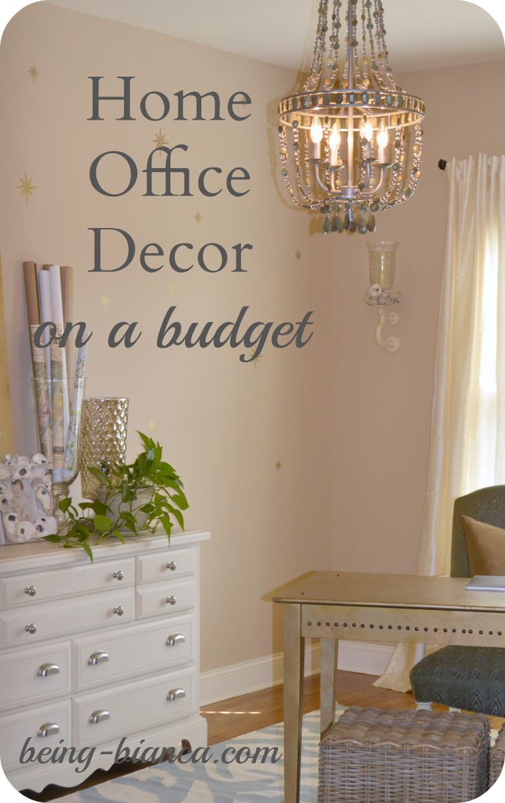 Home Office Decor on a Budget - great DIY ideas for an elegant space on a tight budget.