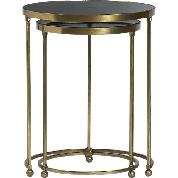 Set Of 2 Moreno Nesting Tables In Side, Coffee Tables | Crate And Barrel