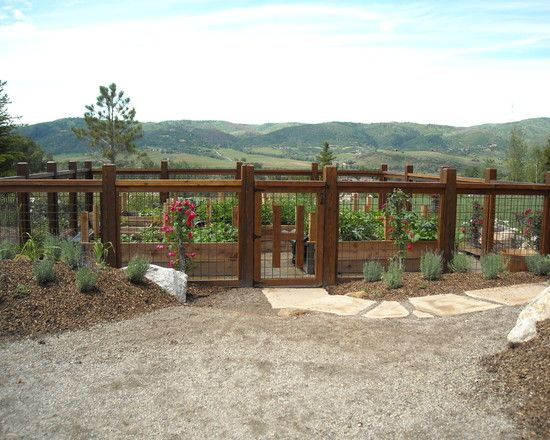 simple vegetable garden fencing ideas traditional