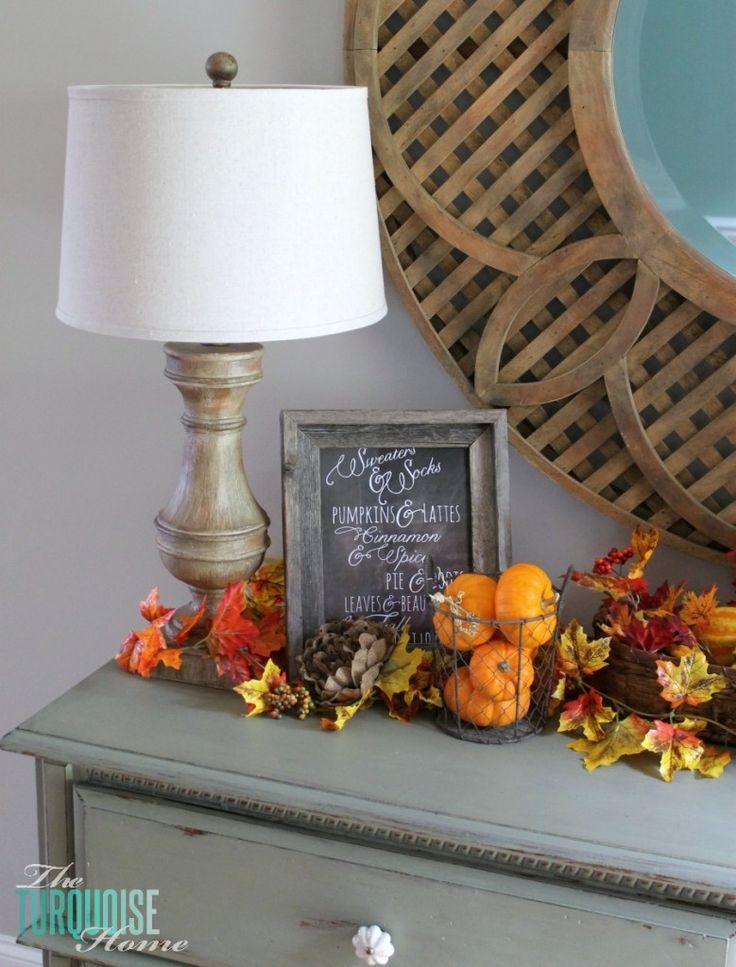 beautiful fall vignette