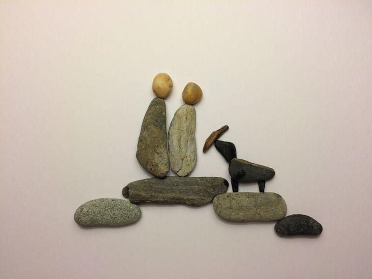 Pebble Art Picture Dog