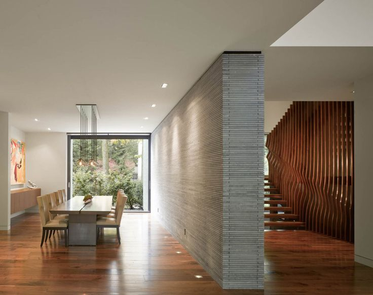 Interior Awarded Contemporary Home With Beautiful Garden In Toronto Canada