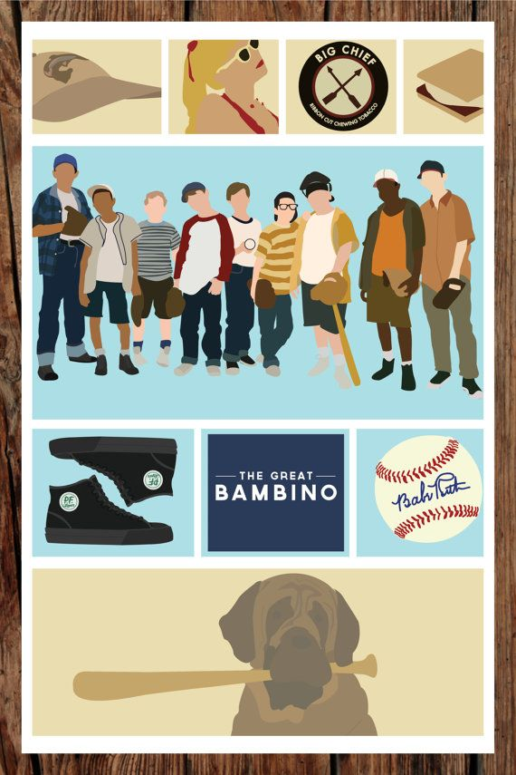 The Sandlot  11x17 Giclee Print by TheLassoedMoon on Etsy