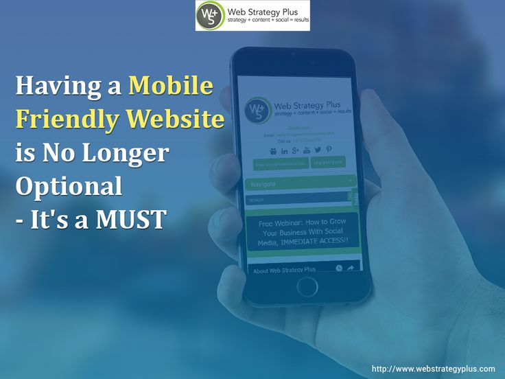 Having a Mobile Friendly Website is No Longer Optional – It's a MUST http://www.webstrategyplus.com/having-a-mobile-friendly-website-is-no-longer-optional-its-a-must?utm_source=rss&utm_medium=Send+Social+Media&utm_campaign=RSS