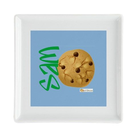 Personalized Child's Cookie Square Plate