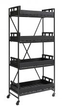 RACK with black wood baskets