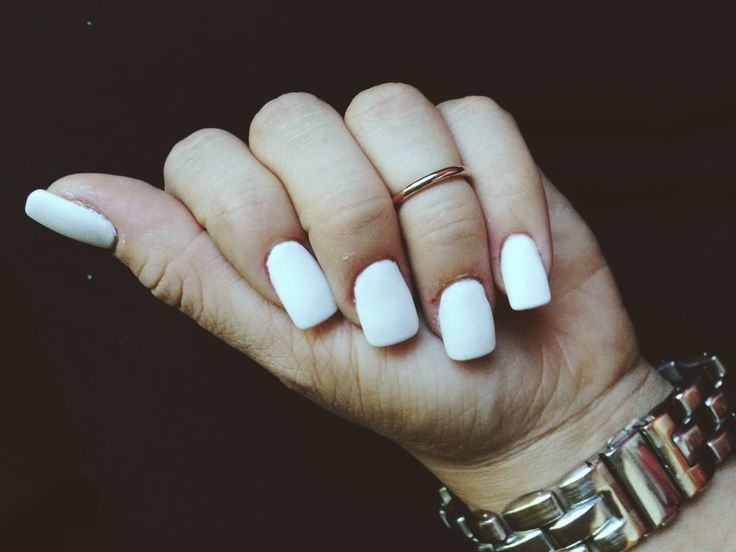 Matte white acrylic nails | | Nails | | Pinterest | Love ...